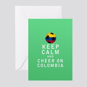 Keep Calm and Cheer On Colombia FULL Greeting Card