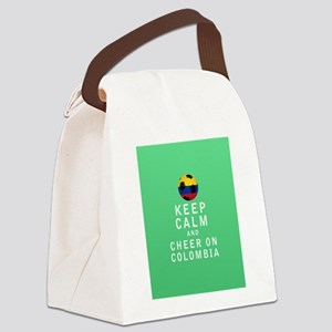 Keep Calm and Cheer On Colombia FULL Canvas Lunch