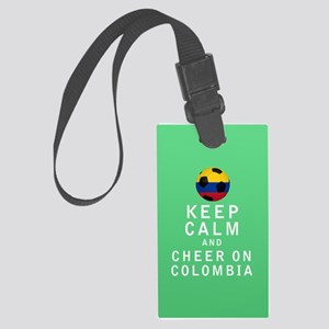 Keep Calm and Cheer On Colombia FULL Luggage Tag