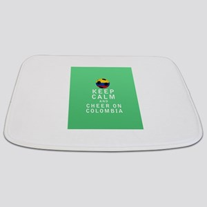 Keep Calm and Cheer On Colombia FULL Bathmat