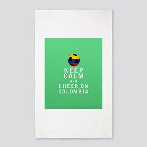 Keep Calm and Cheer On Colombia FULL 3'x5' Area Ru