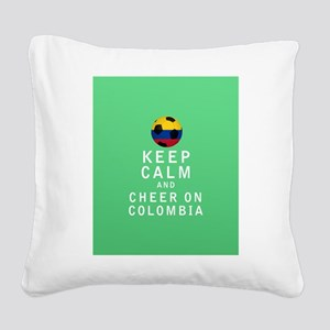 Keep Calm and Cheer On Colombia FULL Square Canvas