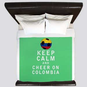 Keep Calm and Cheer On Colombia FULL King Duvet