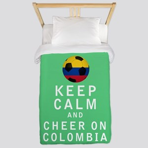Keep Calm and Cheer On Colombia FULL Twin Duvet