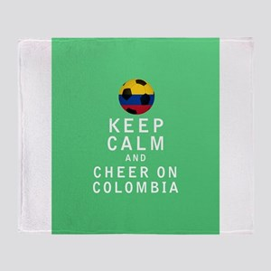 Keep Calm and Cheer On Colombia FULL Throw Blanket