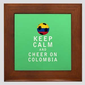 Keep Calm and Cheer On Colombia FULL Framed Tile