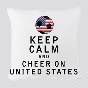Keep Calm and Cheer On United States Woven Throw P