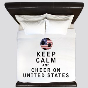 Keep Calm and Cheer On United States King Duvet