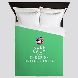 Keep Calm and Cheer On United States FULL Queen Du