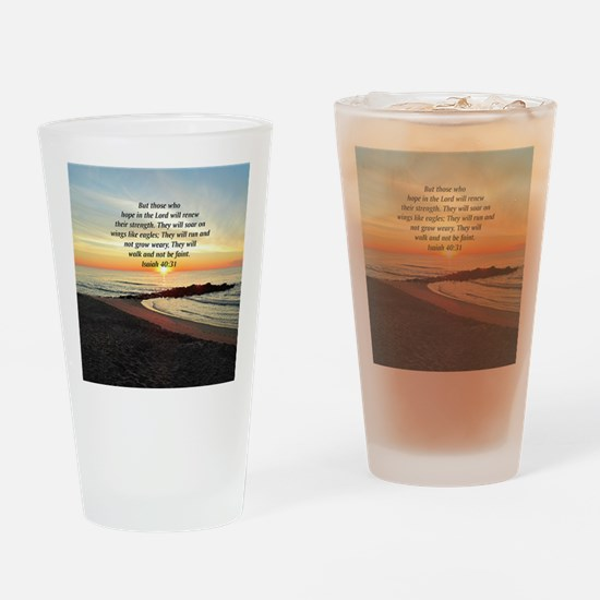 ISAIAH 40:31 Drinking Glass