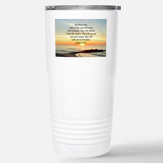 ISAIAH 40:31 Stainless Steel Travel Mug