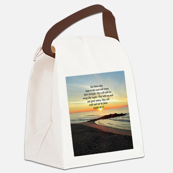 ISAIAH 40:31 Canvas Lunch Bag