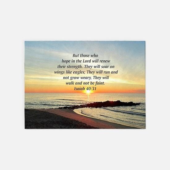 ISAIAH 40:31 5'x7'Area Rug