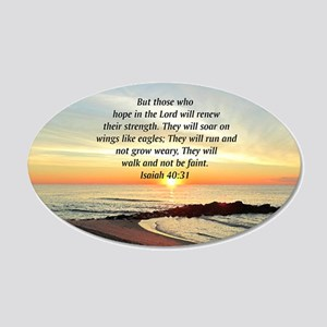 ISAIAH 40:31 20x12 Oval Wall Decal