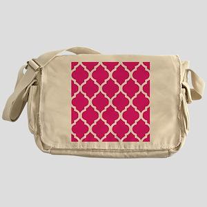 Quatrefoil Hot Pink Messenger Bag