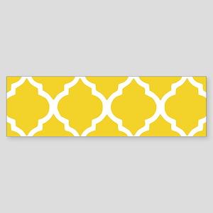 Yellow and White Chic Moroccan La Sticker (Bumper)