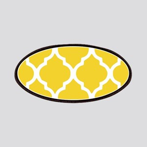 Yellow and White Chic Moroccan Lattice Patches