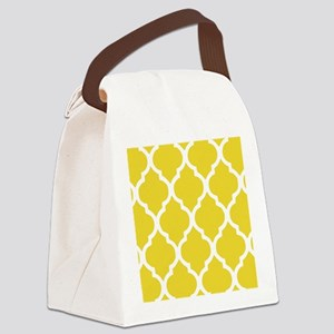 Yellow and White Chic Moroccan La Canvas Lunch Bag