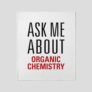 Organic Chemistry Throw Blanket