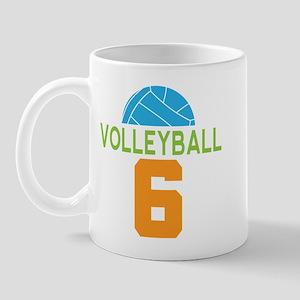 Volleyball player number 6 Mug