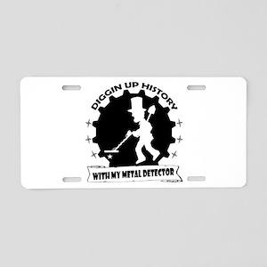 Diggin Up History Aluminum License Plate