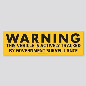 Surveillance Warning Bumper Sticker