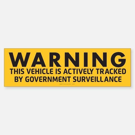 Surveillance Warning Bumper Bumper Bumper Sticker