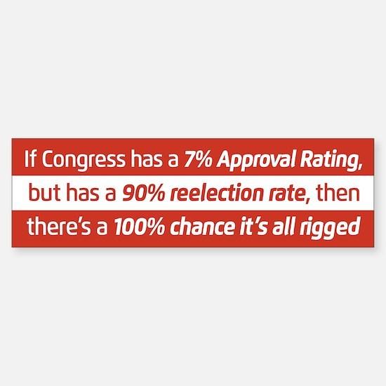 Congress Is Rigged Bumper Bumper Bumper Sticker