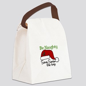 Be Naughty Canvas Lunch Bag