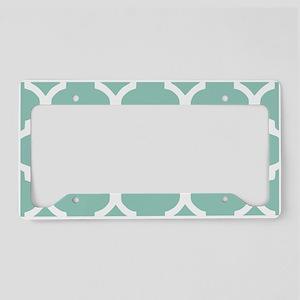 Aqua Chic Moroccan Lattice Pa License Plate Holder
