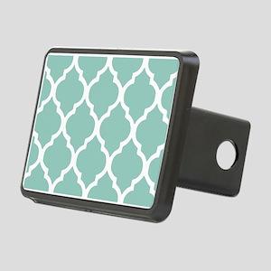 Aqua Chic Moroccan Lattice Rectangular Hitch Cover