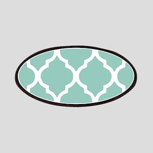 Aqua Chic Moroccan Lattice Pattern Patches