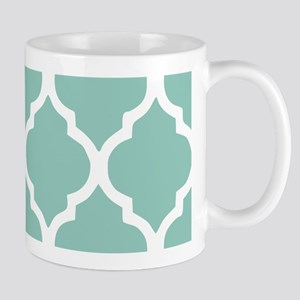 Aqua Chic Moroccan Lattice Pattern Mug