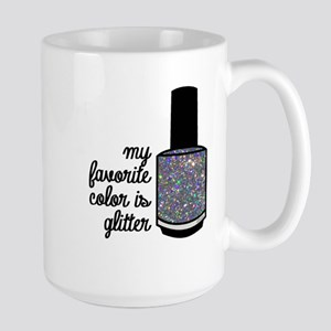 Silver Glitter Mugs