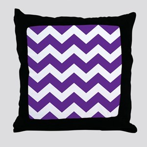 Purple And White Chevron Throw Pillow
