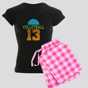 Volleyball player number 13 Women's Dark Pajamas