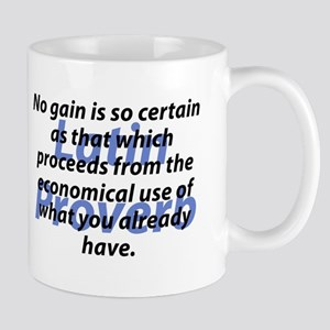No Gain Is Certain Mugs