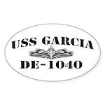 USS GARCIA Sticker (Oval)
