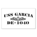 USS GARCIA Sticker (Rectangle)