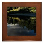 Eel River Reflection Scene Framed Tile