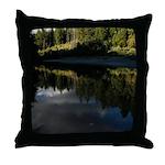 Eel River Reflection Scene Throw Pillow