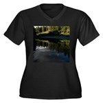 Eel River Reflection Scene Plus Size T-Shirt