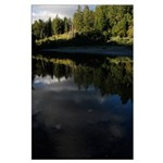 Eel River Reflection Scene Posters Large Poster