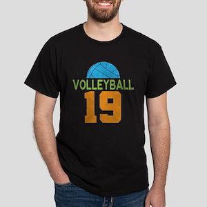Volleyball player number 19 Dark T-Shirt