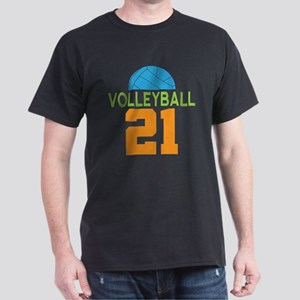 Volleyball player number 21 Dark T-Shirt