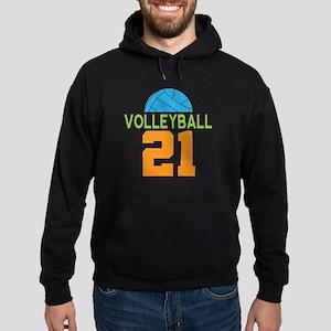 Volleyball player number 21 Hoodie (dark)