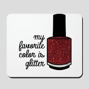 Red Glitter Mousepad