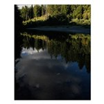 Eel River Reflection Scene Posters Small Poster