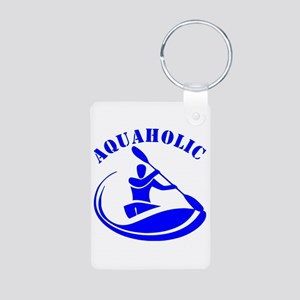 Aquaholic Kayak Guy Aluminum Photo Keychain