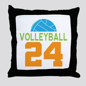 Volleyball player number 24 Throw Pillow